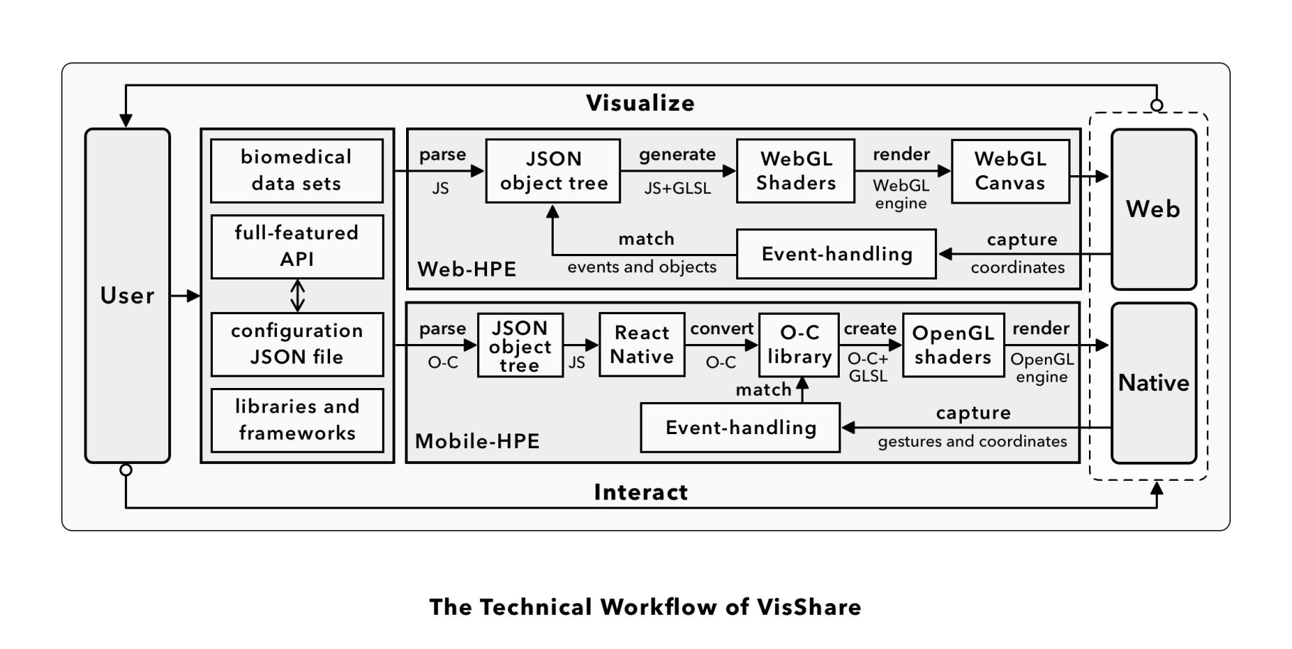 Technical Workflow of VisShare
