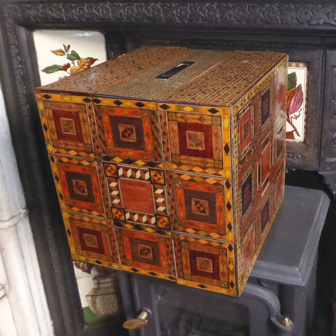 Large marquetry box by 51055 designs