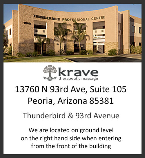 Krave Therapeutic Massage moved to 13760 N 93rd Ave